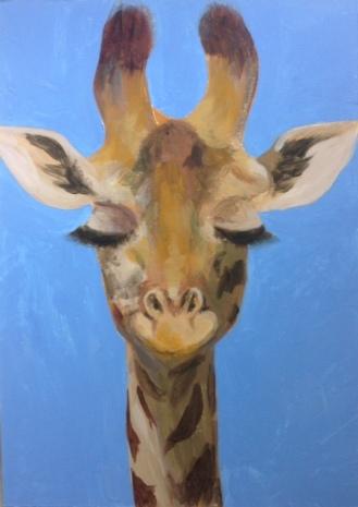 A charming giraffe dreams of...