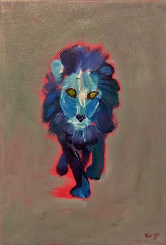 A Lion Walking