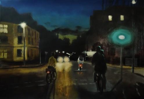 Rainy Night Cycling